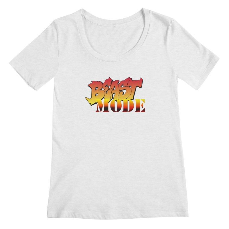 Beast Mode Women's Regular Scoop Neck by Power Artist Shop