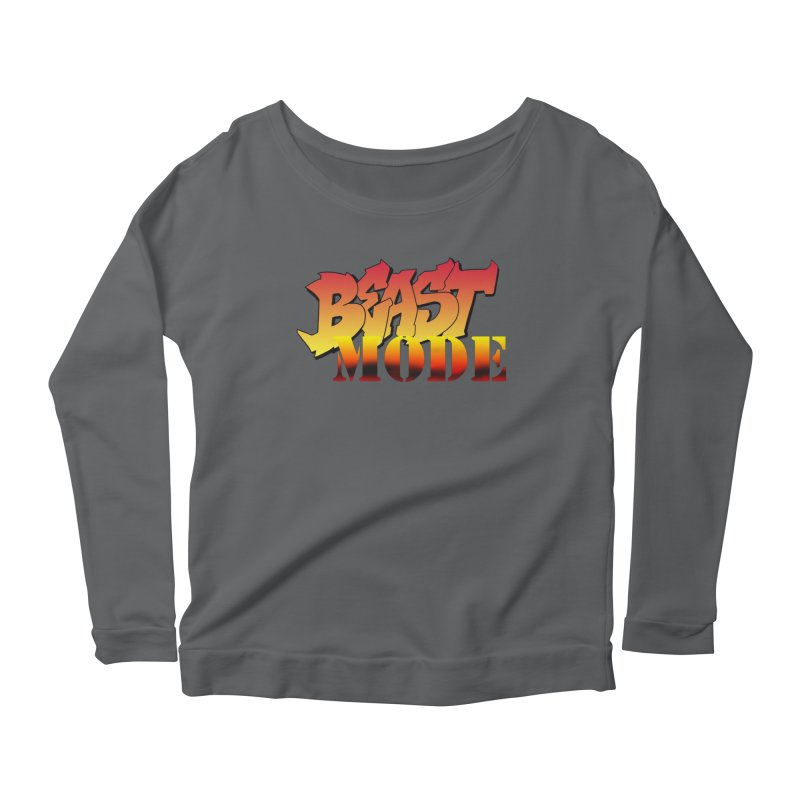 Beast Mode Women's Scoop Neck Longsleeve T-Shirt by Power Artist Shop