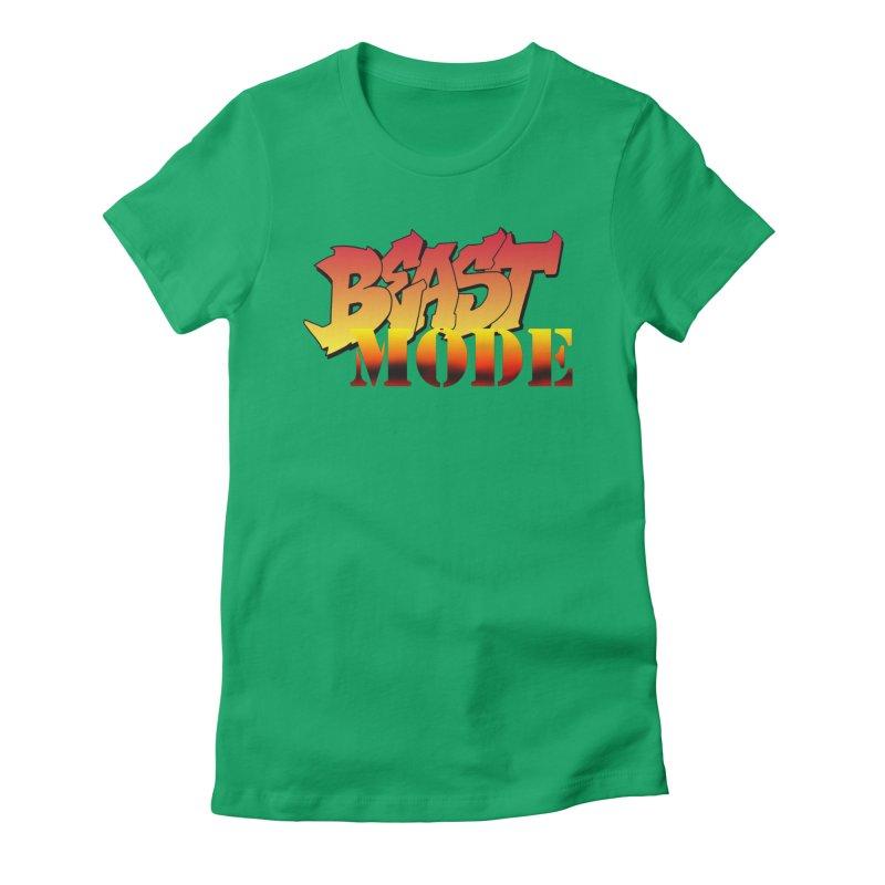 Beast Mode Women's Fitted T-Shirt by Power Artist Shop