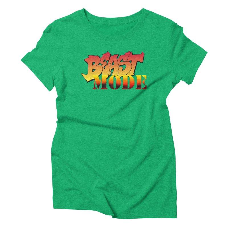 Beast Mode Women's Triblend T-Shirt by Power Artist Shop