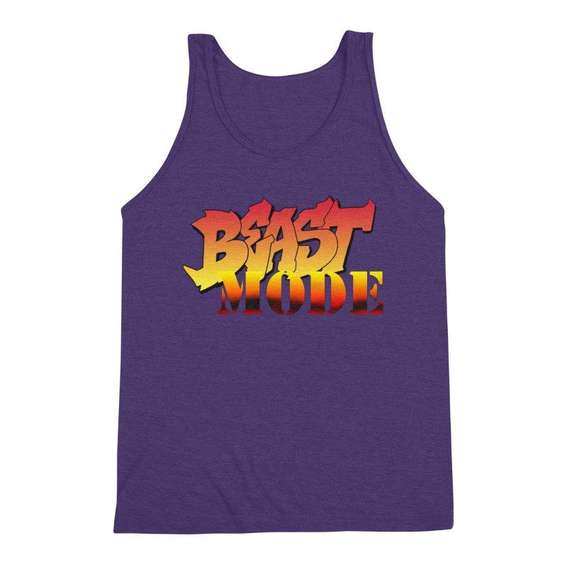 Beast Mode Men's Triblend Tank by Power Artist Shop
