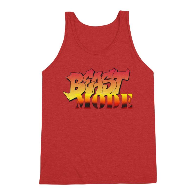 Beast Mode Men's Triblend Tank by Power Artist Shop