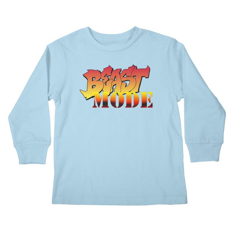 Beast Mode Kids Longsleeve T-Shirt by Power Artist Shop