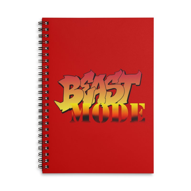 Beast Mode Accessories Lined Spiral Notebook by Power Artist Shop