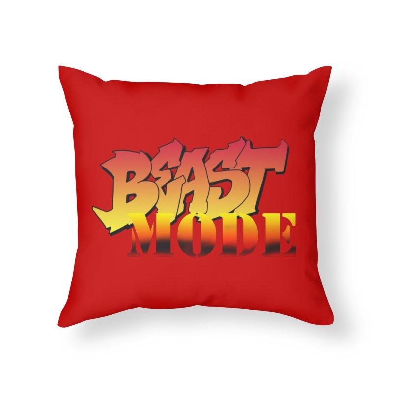 Beast Mode Home Throw Pillow by Power Artist Shop