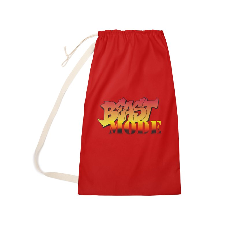 Beast Mode Accessories Laundry Bag Bag by Power Artist Shop