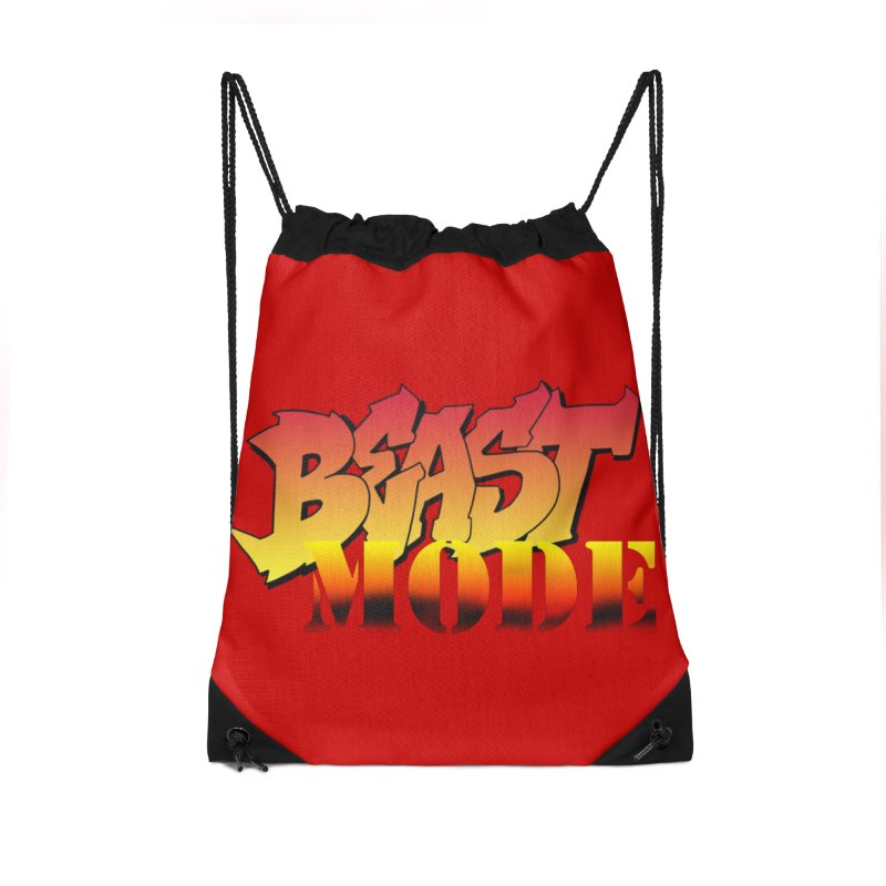 Beast Mode Accessories Drawstring Bag Bag by Power Artist Shop