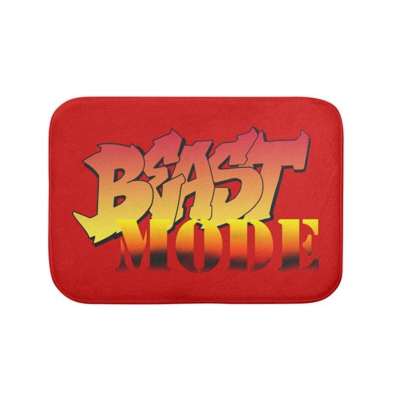 Beast Mode Home Bath Mat by Power Artist Shop