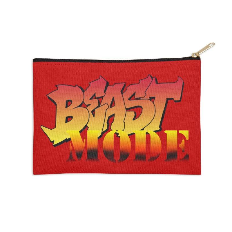Beast Mode Accessories Zip Pouch by Power Artist Shop
