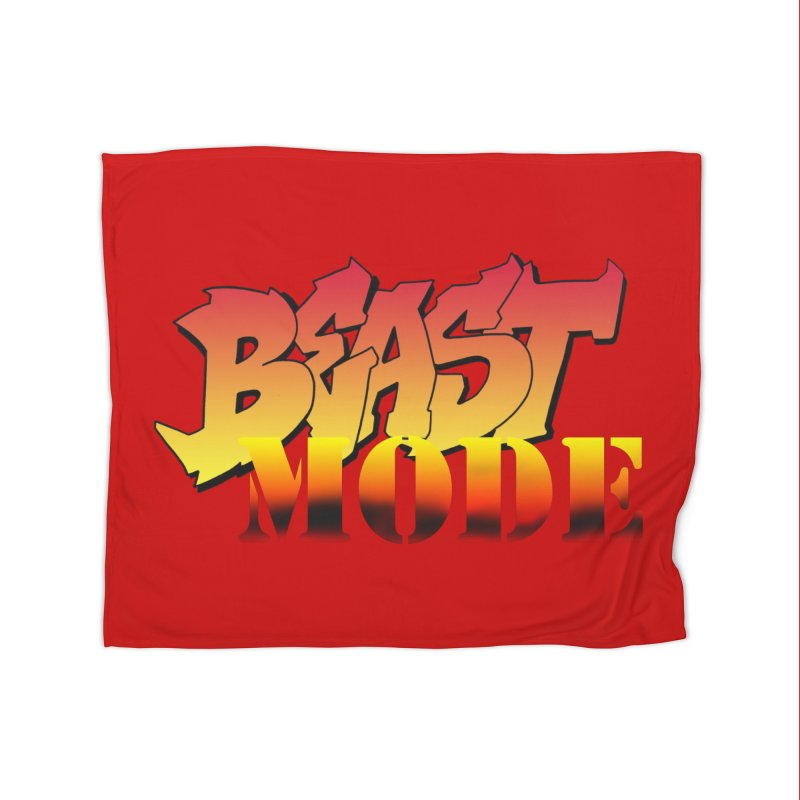Beast Mode Home Fleece Blanket Blanket by Power Artist Shop