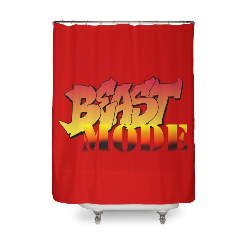 Beast Mode Home Shower Curtain by Power Artist Shop