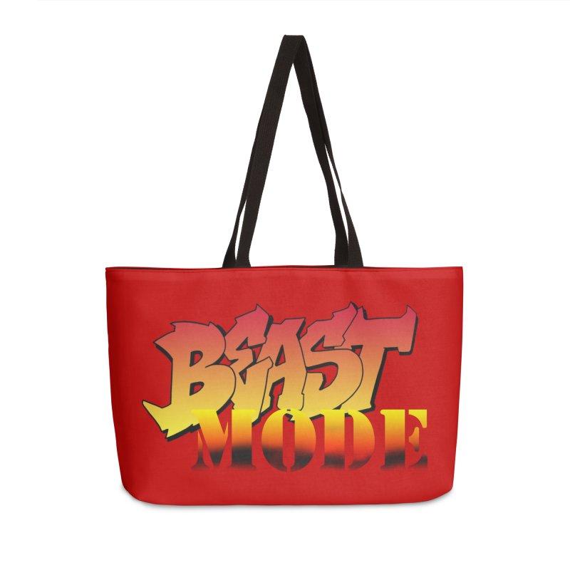 Beast Mode Accessories Weekender Bag Bag by Power Artist Shop