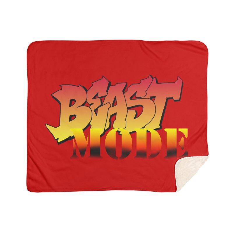 Beast Mode Home Sherpa Blanket Blanket by Power Artist Shop