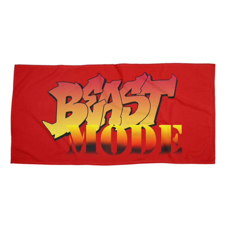 Beast Mode Accessories Beach Towel by Power Artist Shop