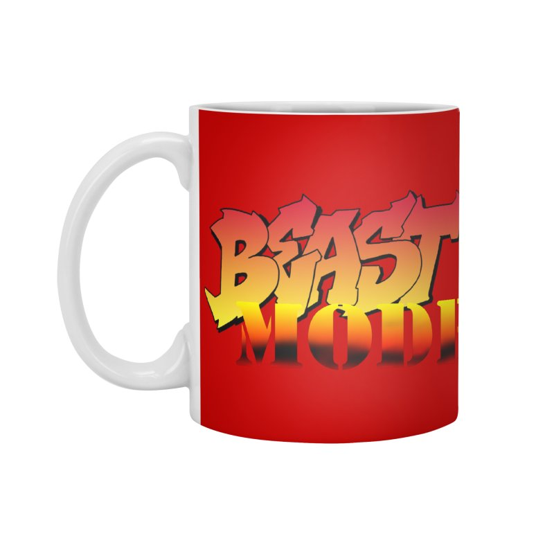 Beast Mode Accessories Standard Mug by Power Artist Shop