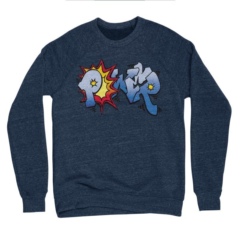 Explosive Power! Men's Sponge Fleece Sweatshirt by Power Artist Shop