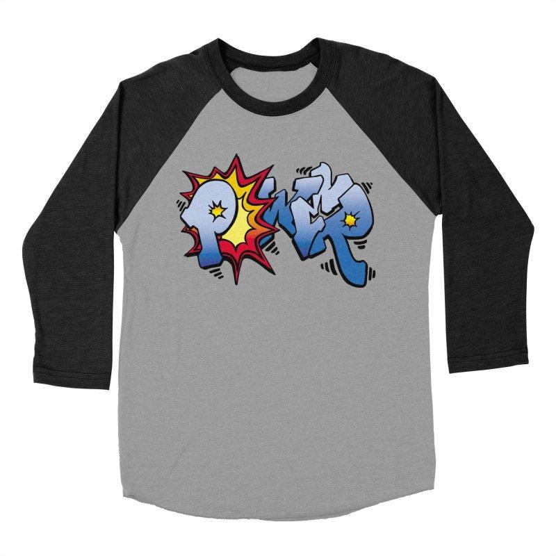 Explosive Power! Women's Baseball Triblend Longsleeve T-Shirt by Power Artist Shop