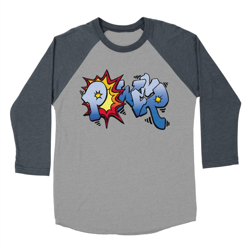 Explosive Power! Men's Baseball Triblend Longsleeve T-Shirt by Power Artist Shop
