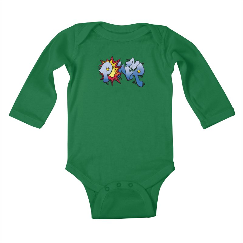 Explosive Power! Kids Baby Longsleeve Bodysuit by Power Artist Shop