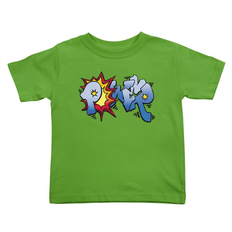 Explosive Power! Kids Toddler T-Shirt by Power Artist Shop