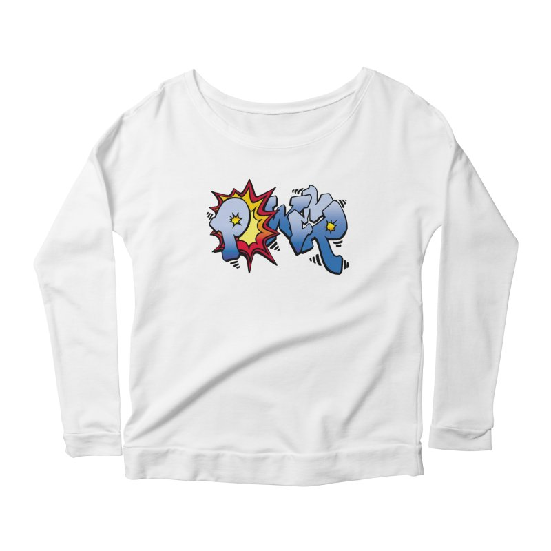 Explosive Power! Women's Scoop Neck Longsleeve T-Shirt by Power Artist Shop