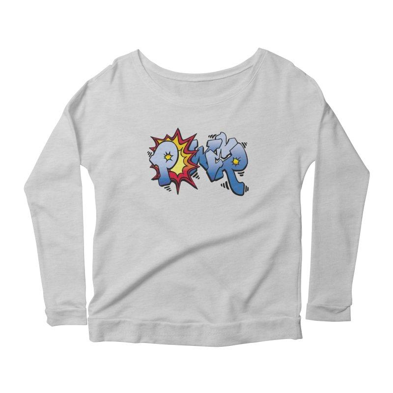 Explosive Power! Women's Scoop Neck Longsleeve T-Shirt by Power Artist Shop