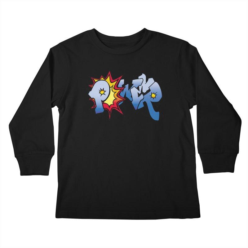 Explosive Power! Kids Longsleeve T-Shirt by Power Artist Shop