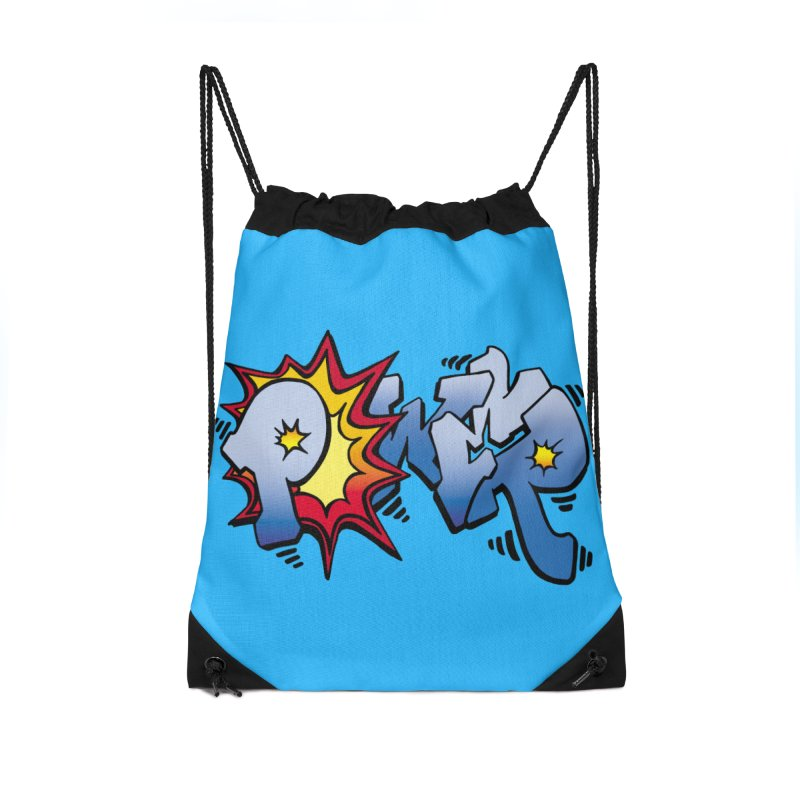 Explosive Power! Accessories Drawstring Bag Bag by Power Artist Shop