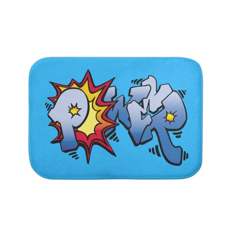 Explosive Power! Home Bath Mat by Power Artist Shop