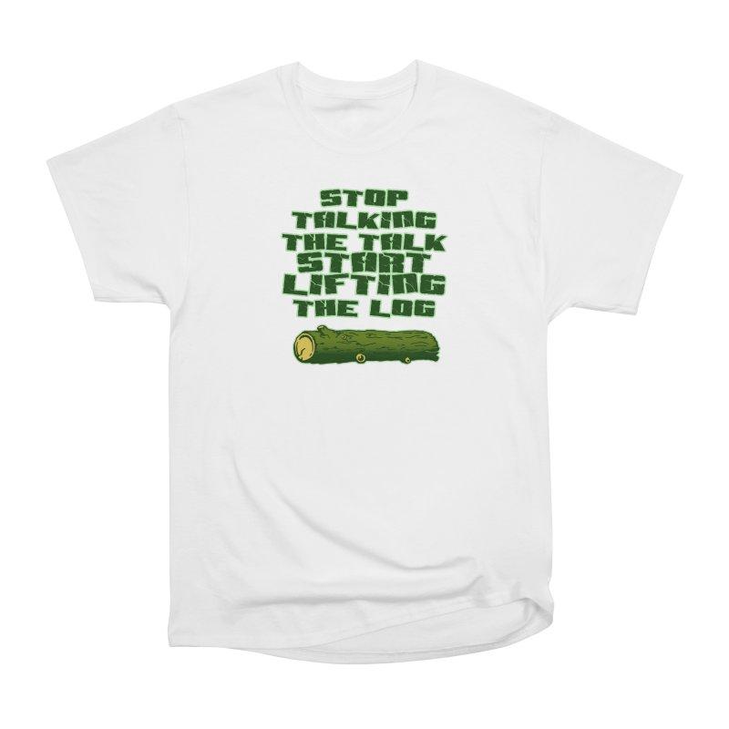 Stop Talking The Talk Men's Heavyweight T-Shirt by Power Artist Shop
