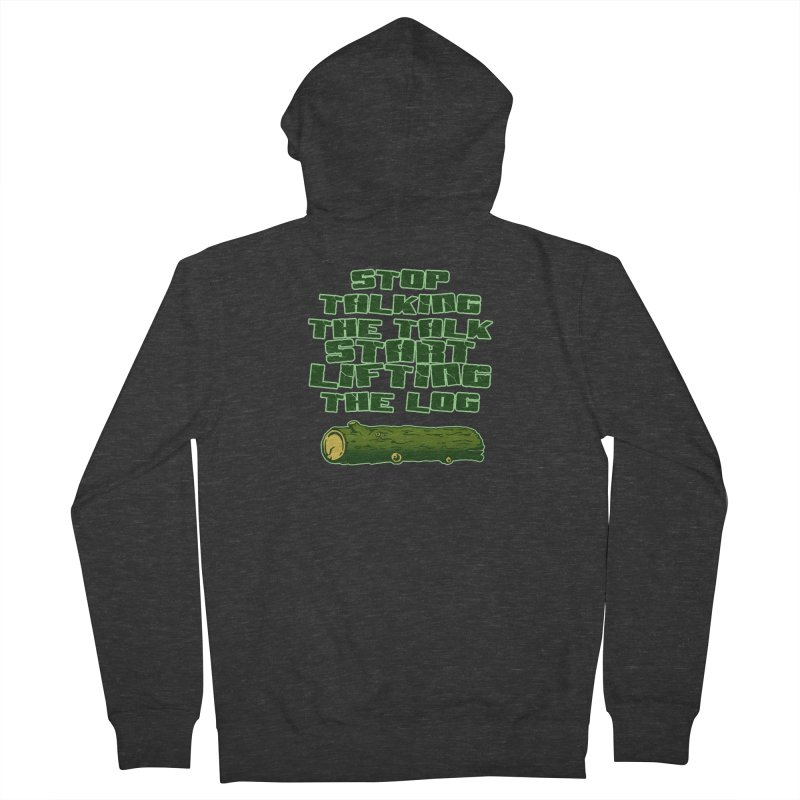 Stop Talking The Talk Women's French Terry Zip-Up Hoody by Power Artist Shop