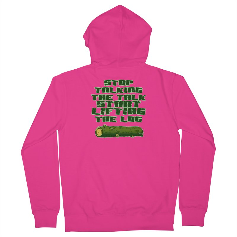 Stop Talking The Talk Men's French Terry Zip-Up Hoody by Power Artist Shop