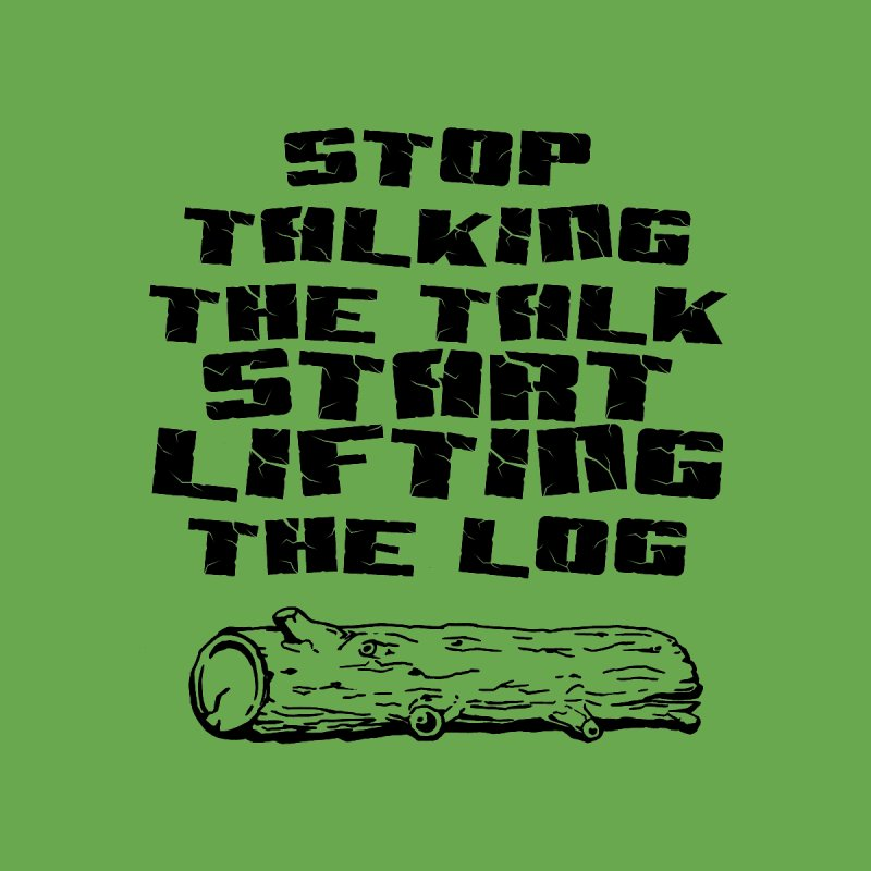 Stop Talking the Talk (black) by Power Artist Shop