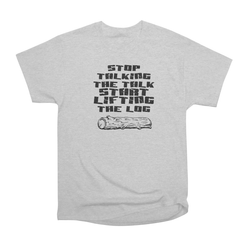 Stop Talking the Talk (black) Men's Heavyweight T-Shirt by Power Artist Shop