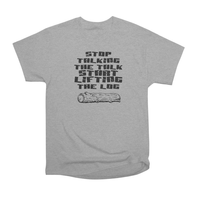 Stop Talking the Talk (black) Men's Heavyweight T-Shirt by Power Artist Shop