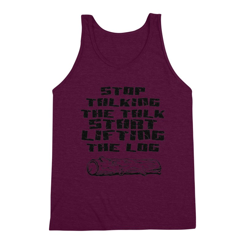 Stop Talking the Talk (black) Men's Triblend Tank by Power Artist Shop