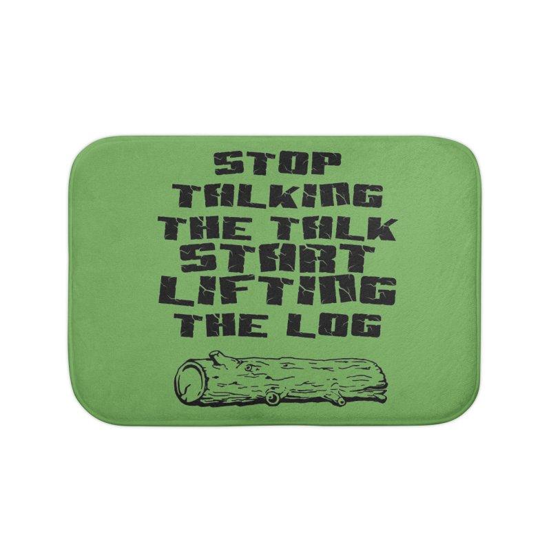 Stop Talking the Talk (black) Home Bath Mat by Power Artist Shop