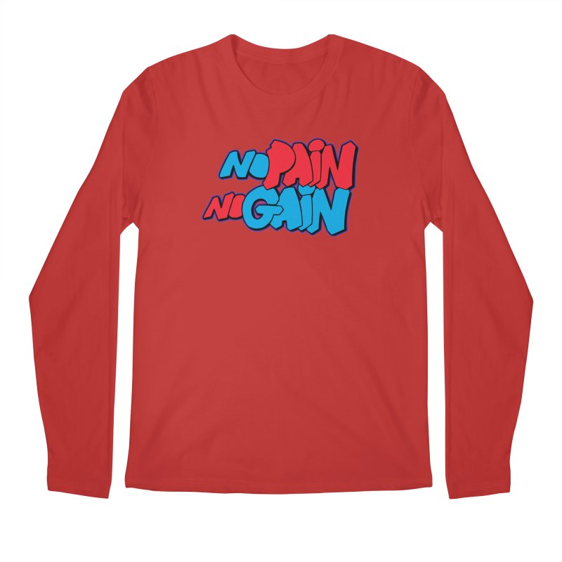 No Pain No Gain Men's Regular Longsleeve T-Shirt by Power Artist Shop