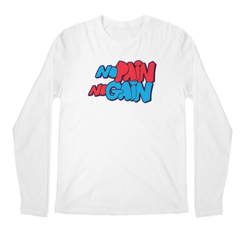 No Pain No Gain Men's Regular Longsleeve T-Shirt by Power Artist Shop