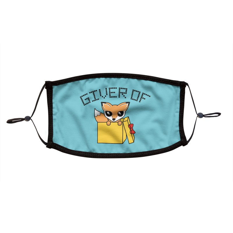 Giver of Fox Accessories Face Mask by Power Thru the 4th Whistle Roller Derby Podcast