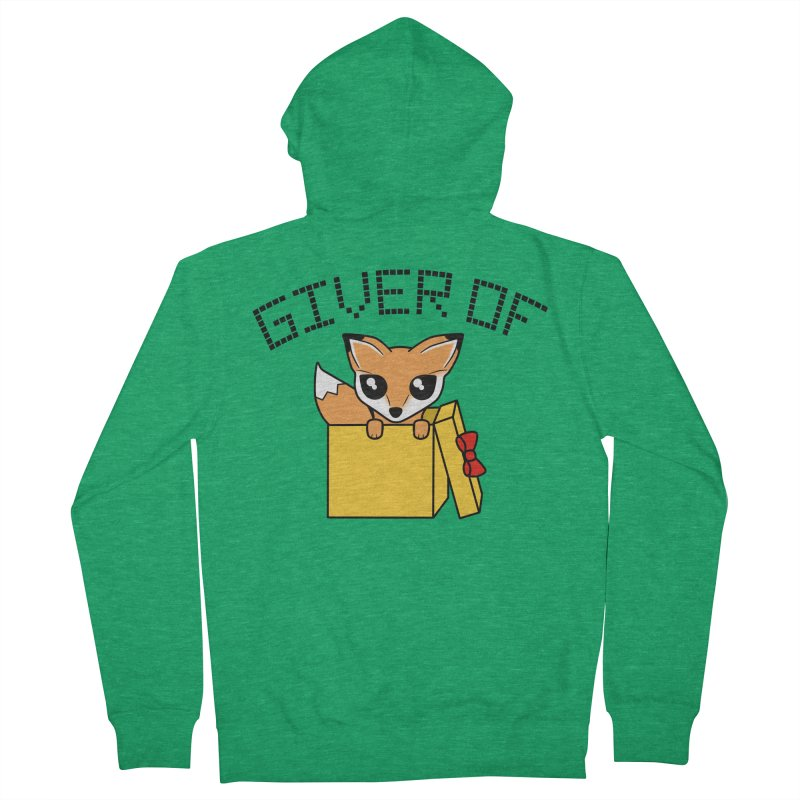 Giver of Fox Men's Zip-Up Hoody by Power Thru the 4th Whistle Roller Derby Podcast