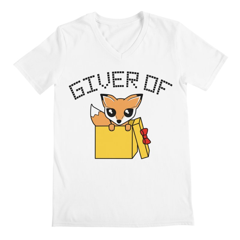 Giver of Fox Men's V-Neck by Power Thru the 4th Whistle Roller Derby Podcast
