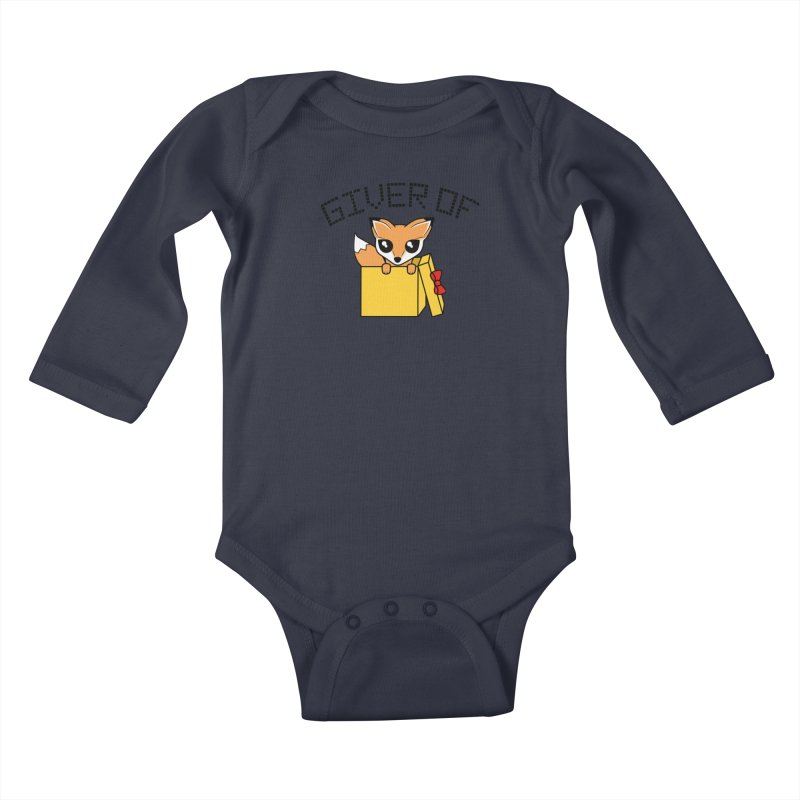 Giver of Fox Kids Baby Longsleeve Bodysuit by Power Thru the 4th Whistle Roller Derby Podcast