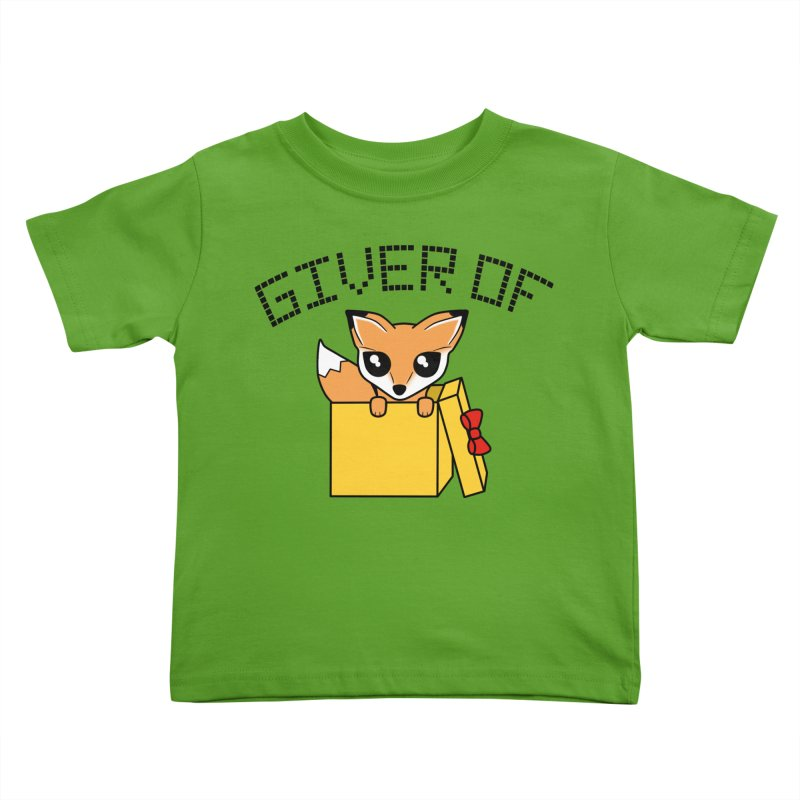 Giver of Fox Kids Toddler T-Shirt by Power Thru the 4th Whistle Roller Derby Podcast
