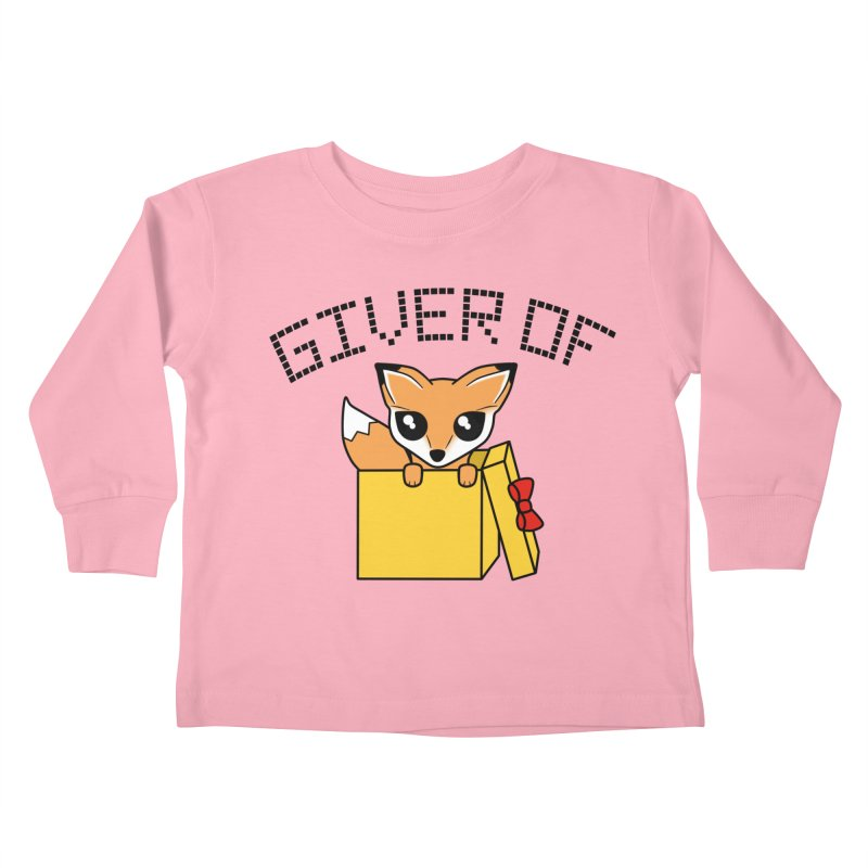 Giver of Fox Kids Toddler Longsleeve T-Shirt by Power Thru the 4th Whistle Roller Derby Podcast