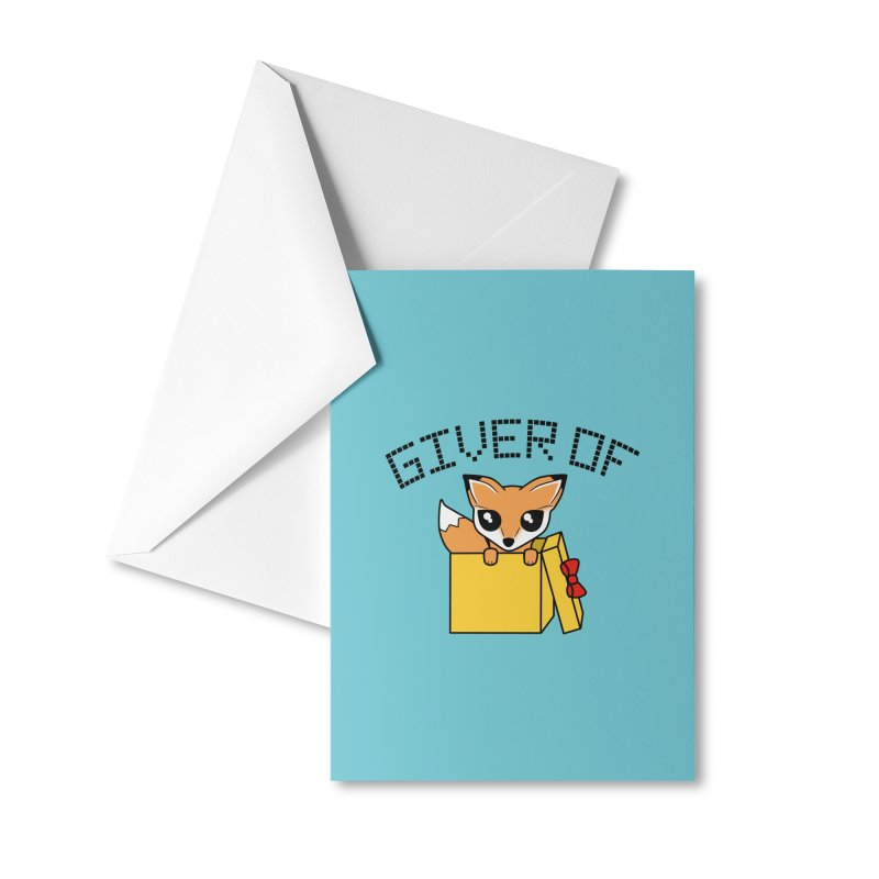 Giver of Fox Accessories Greeting Card by Power Thru the 4th Whistle Roller Derby Podcast