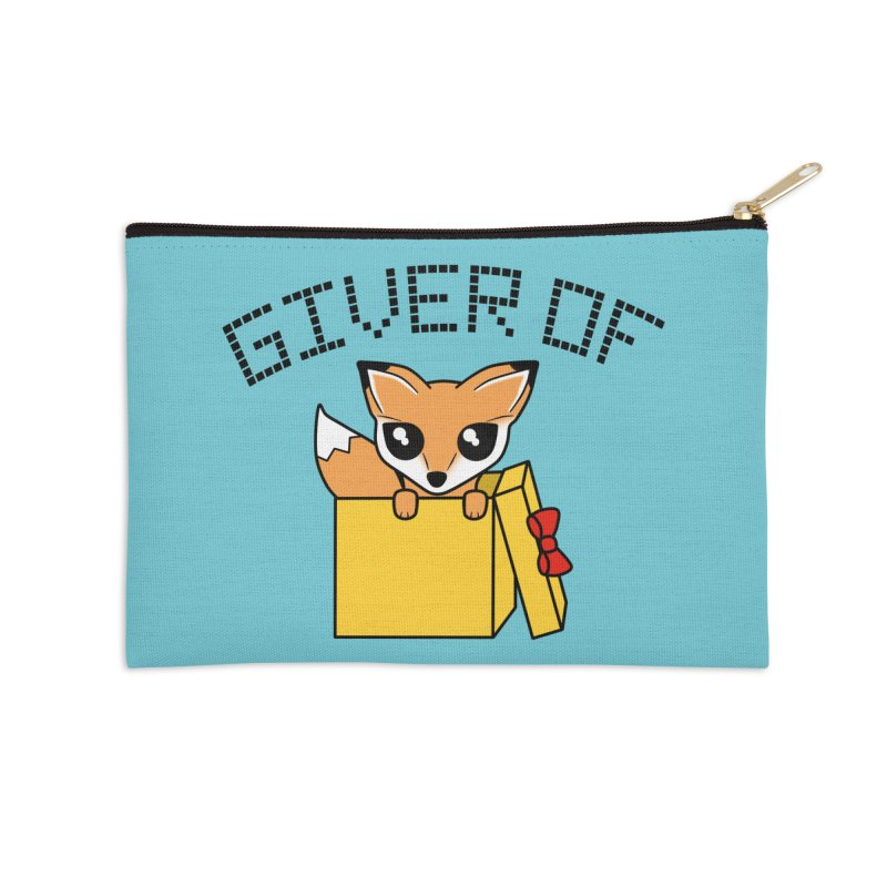 Giver of Fox Accessories Zip Pouch by Power Thru the 4th Whistle Roller Derby Podcast