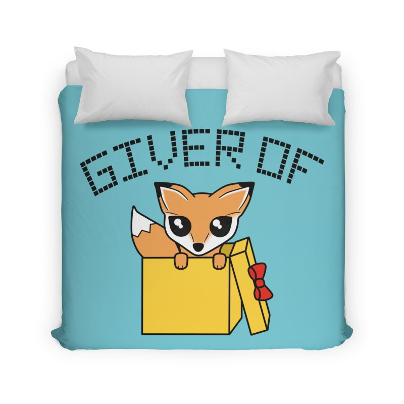 Giver of Fox Home Duvet by Power Thru the 4th Whistle Roller Derby Podcast