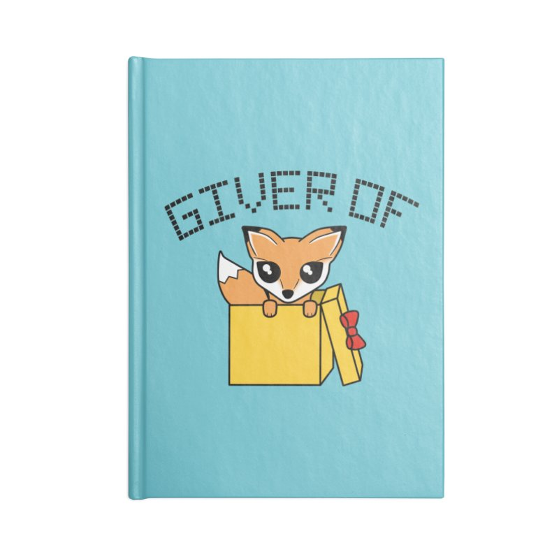 Giver of Fox Accessories Notebook by Power Thru the 4th Whistle Roller Derby Podcast