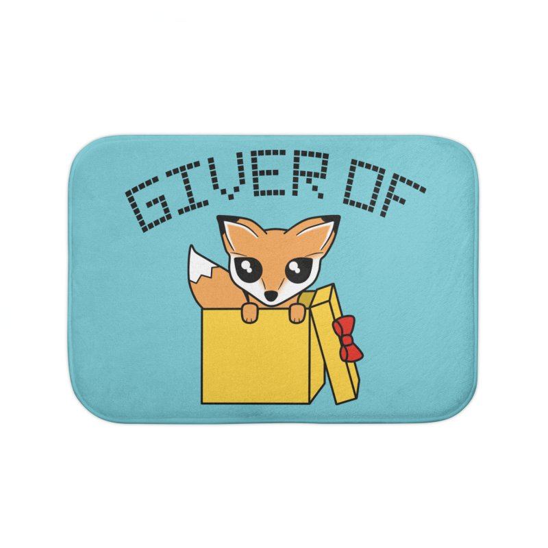Giver of Fox Home Bath Mat by Power Thru the 4th Whistle Roller Derby Podcast